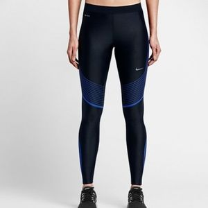 Nike Women's Black Power Speed Running Tights M